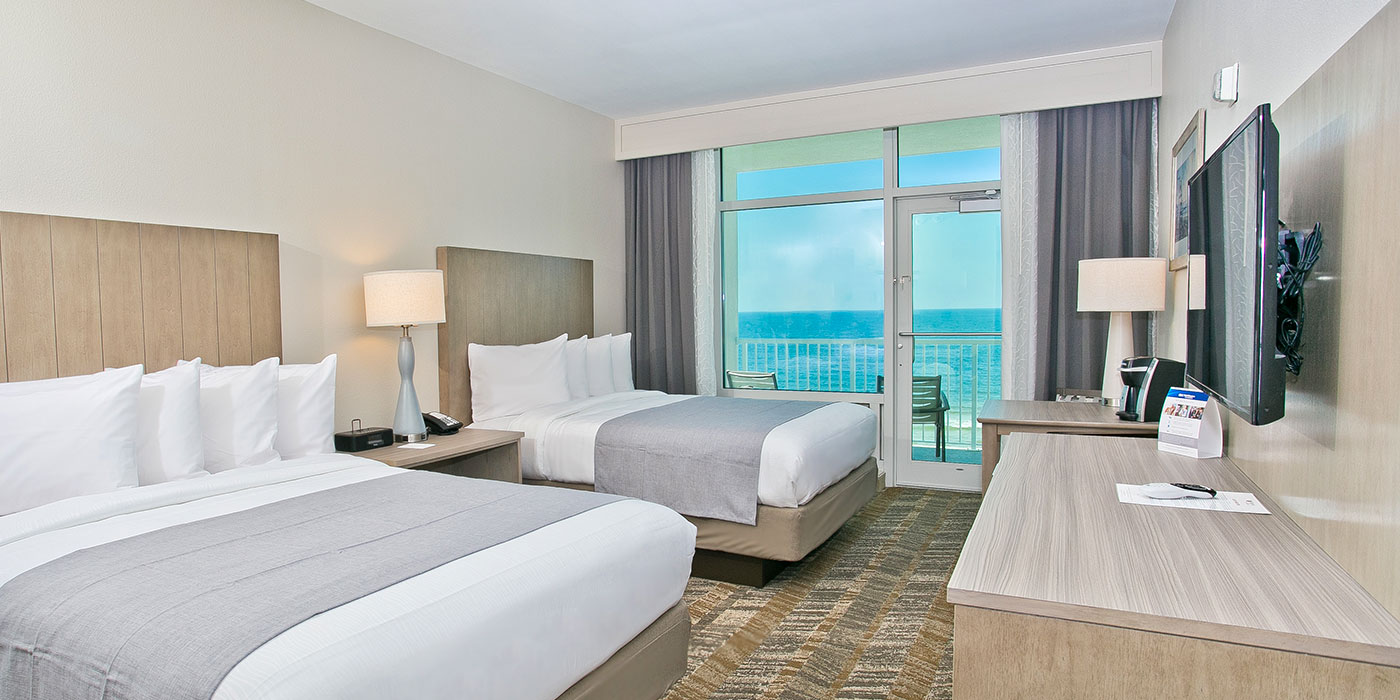 1 King Bed Beachfront Room Best Western Premier Tides Hotel Orange Beach Al 2 Queen